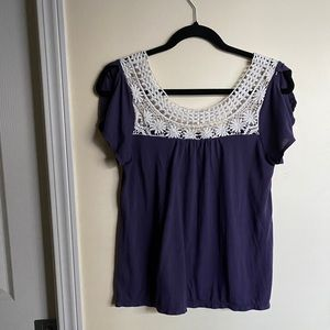 American Eagle Outfitters purple top